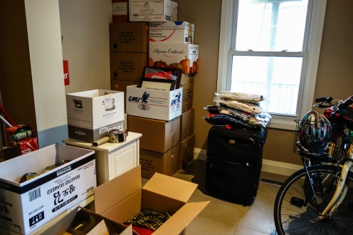 part of our house packed up... still so much to do