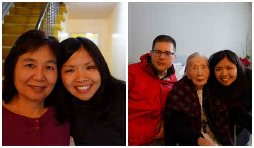 Last visit with Mom & Grandma before heading to the airport!