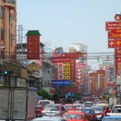 Traffic chaos in Yaowarat Chinatown