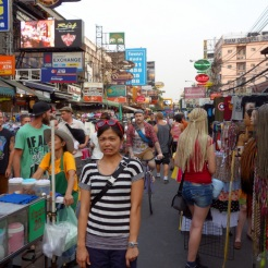 Andrea unimpressed by Khao San Road