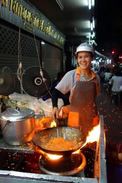 Thip Samai - Pad Thai. Serious wok heat action.