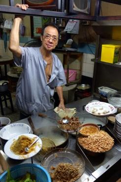 Fish rice porridge vendor