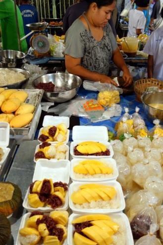 Mango sticky rice etc., Trat night market