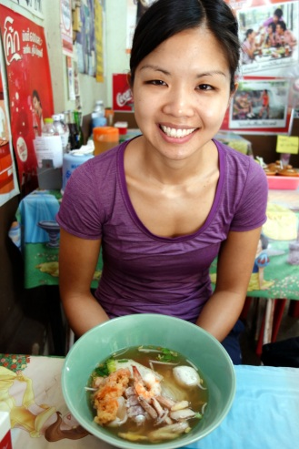 Andrew + seafood noodle soup, Trat