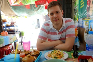 Pad thai at Seafodd noodle restaurant, Trat