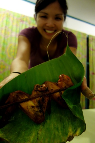 Grilled chicken wings from street vendor