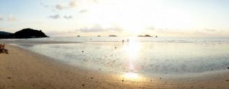 Klong Prao Beach panorama at low tide