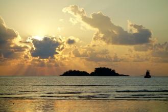 Sunset on Klong Prao Beach