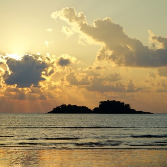 Sunset on Klong Prao Beach