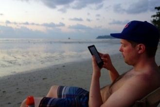 Sunset reading, Klong Prao Beach