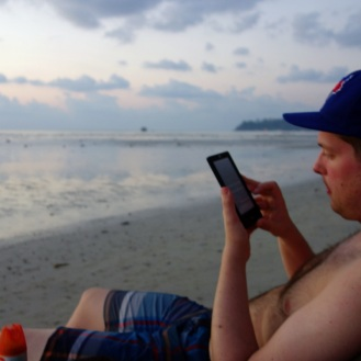 Sunset reading, Klong Prao Beach