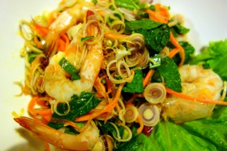 Spicy lemongrass prawn salad, Ka-Ti Culinary