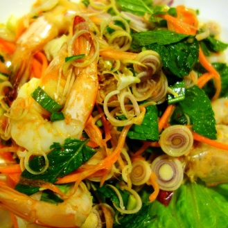 Spicy lemongrass prawn salad, Ka-Ti Culinary