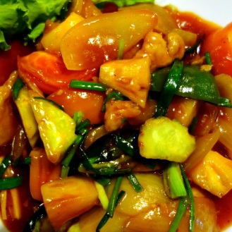 Sweet and sour pork, Blue Lagoon restaurant
