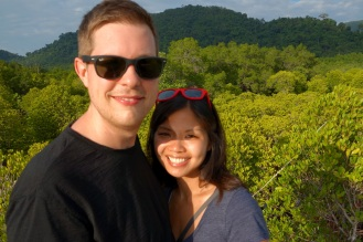 On the mangrove forest boardwalk