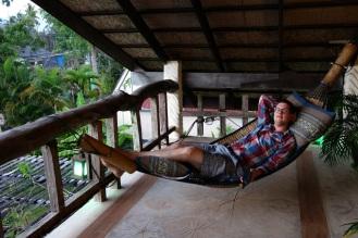 "Mangrove Hideaway hammocks in the ""Relax Zone"""