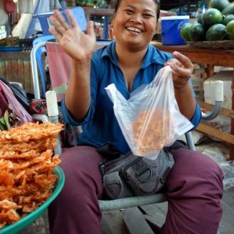 Shrimp Cracker Lady