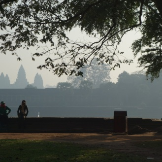 Our firt glimpse of the famed Angkor Wat