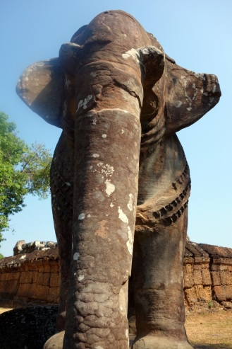 Elephants of Eastern Mebon (yup, our lens was smudged)