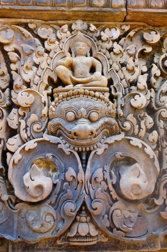 Beautiful carvings at Banteay Srei
