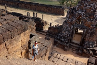 Climbing the steps of Pre Rup