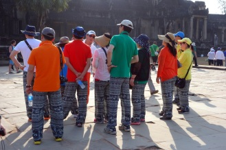 Most Asian tour groups we saw had matching hats, but this one was our favourite. They had matching pants!!! Amazing!