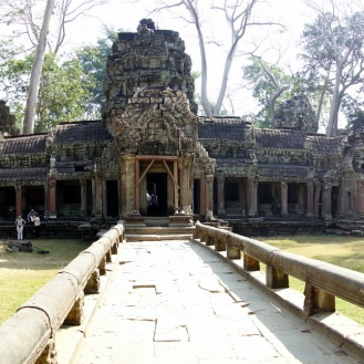 Walking into Ta Prohm