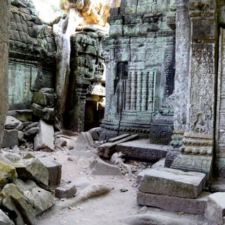 Ruins inside Ta Prohm