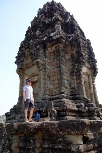 Climbing to the top of Bakong