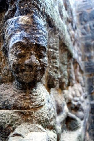 up close shot back at Angkor Thom