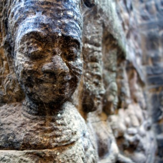 up close shot back at Angkor Thom