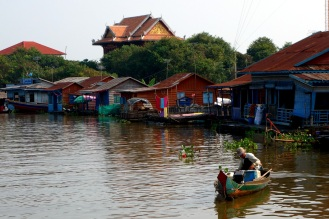 The first floating village we passed through