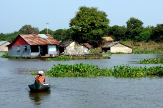 Typical scene from the floating village