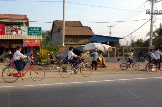 Biking throgh Battambang
