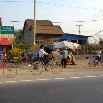 Biking throgh Battambang