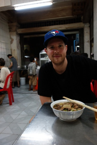 Delicious hand-pulled duck noodle soup.