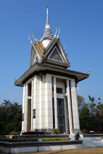 Buddhist Stupa Monument at Choeung Ek Killing Fields