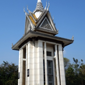 Buddhist Stupa Monument at Choeung Ek Killing Fields