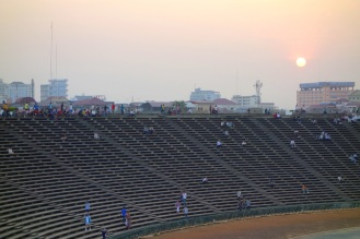 Olympic Staidum where we watched the soccer game just before sunset