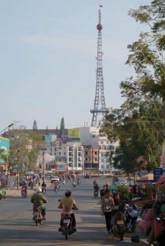 Eiffel Tower-shaped transmission tower in Dalat