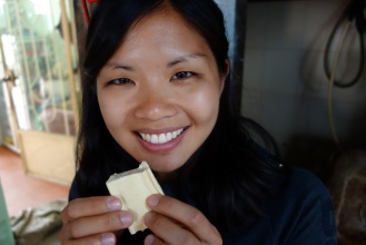 Incredibly delicious fresh tofu, right out of the press