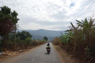 On the road near Dalat