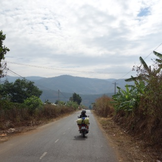 On the road near Dalat
