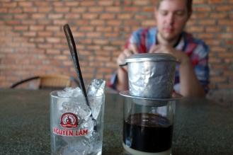 Ca phe sua da - vietnamese iced coffee with condensed milk.