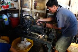Rice noodle production