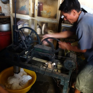Rice noodle production
