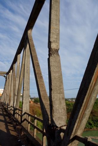 Old French-built bridge damaged during the Vietnam War.