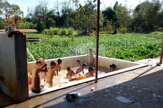 Visit to (Vinh Son?) orphanage/school in Kon Tum. This was the swimming pool/bath area. The orphanage is run by catholic nuns with most ofthe kids being from minority villages in the area.
