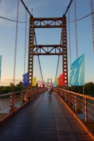 Suspension bridge outside Kon Tum