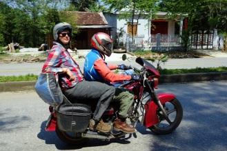 Kim and Jesse on the bike.